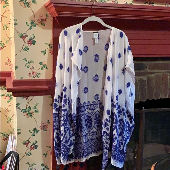 J. Crew Other - Blue and white patterned cover-u
